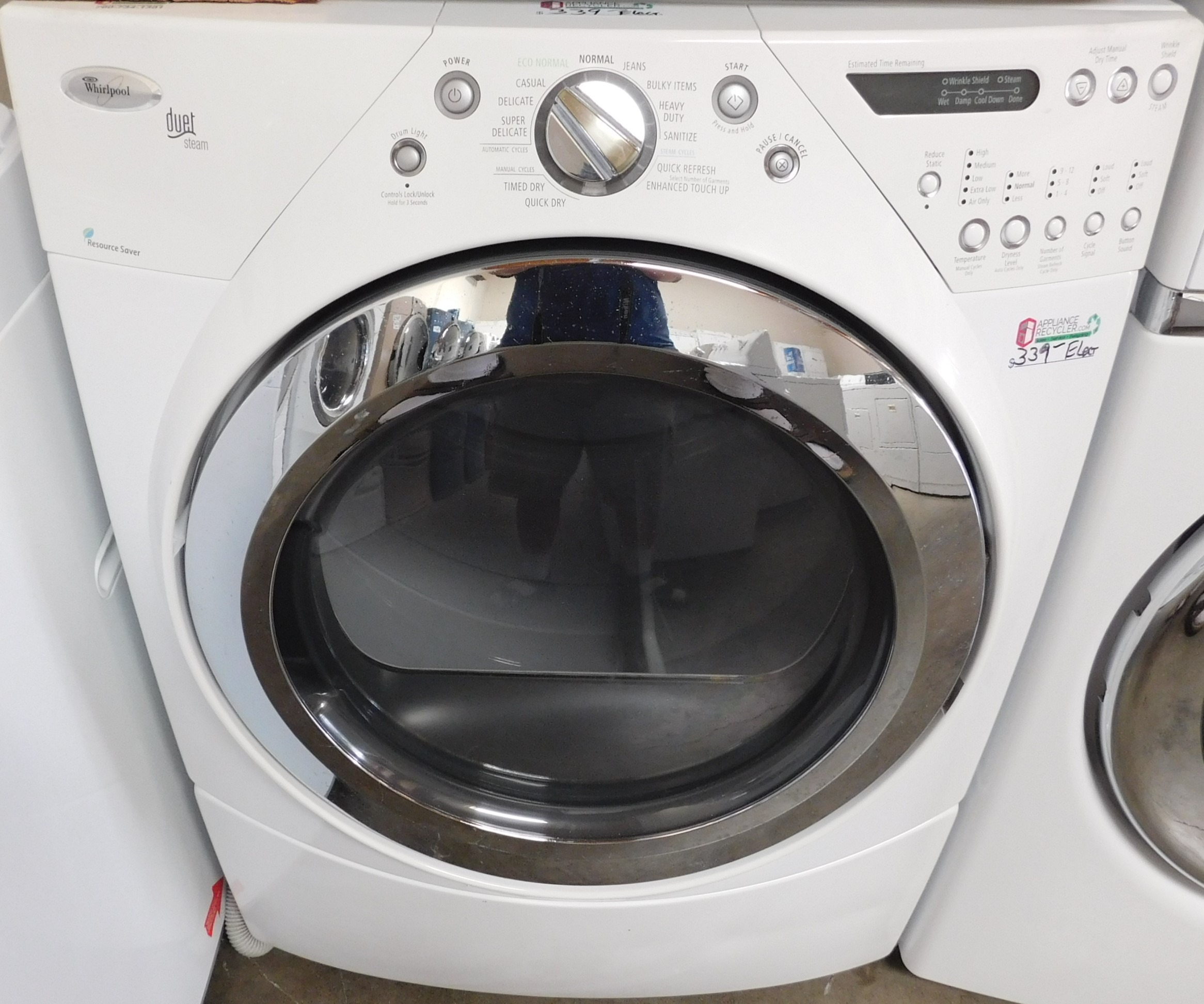 Front Load Whirlpool Duet Electric Dryer Appliance Recycler