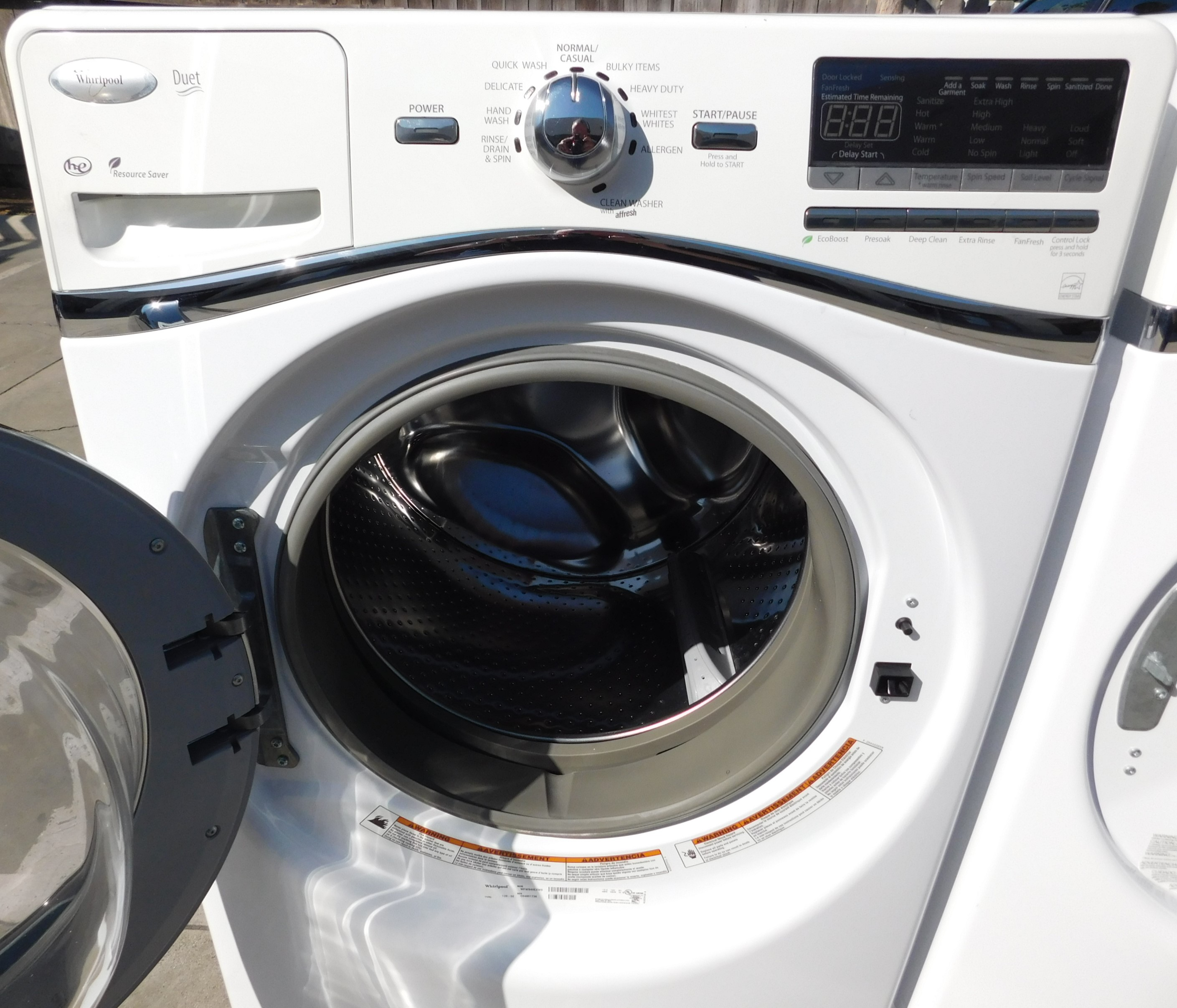 Front Load Whirlpool Washer And Gas Dryer Set Appliance